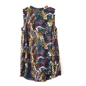 Halogen Colorful Print Sleeveless Blouse Small